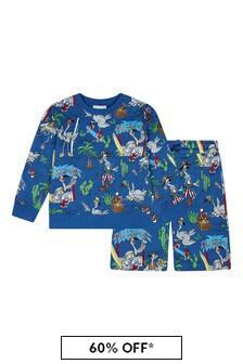 Stella McCartney Kids Boys Blue Cotton Outfit