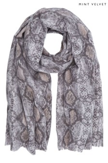 Mint Velvet Animal Snake Print Scarf
