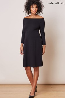 Isabella Oliver Black Kennedy Maternity Dress