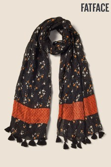 FatFace Black Star Floral Scarf