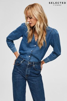 Selected Femme Blue Denim Harper Shirt