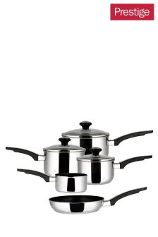 5 Piece Prestige Everyday Stainless Steel Pan Set