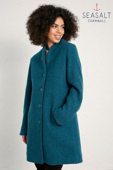 Seasalt Blue Storm Melange Downas Cove Coat