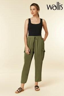 Wallis Green Petite Khaki Utility Trousers