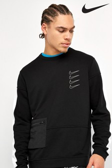 Nike Black Dri-FIT Fleece Training Crew Neck Top