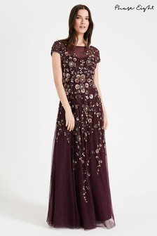 Phase Eight Red Alanis Floral Maxi Dress