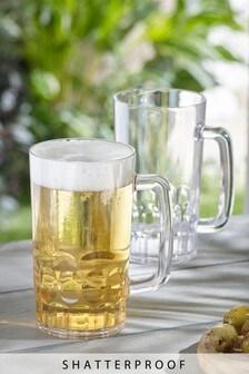 Set of 2 Plastic Beer Tankards