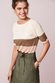 Linen Mix T-Shirt