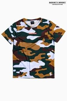 Society Sport Kids Forest Camo T-Shirt