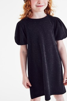 Sparkle Puff Sleeve Dress (3-16yrs)