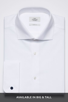 Curved Cutaway Collar Shirt