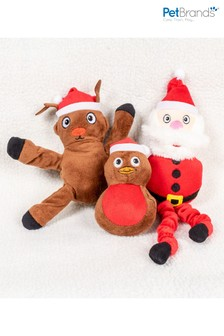Set of 3 Christmas Pet Toys by Pet Brands