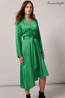 Phase Eight Green Vivola Satin Dress