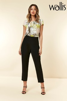 Wallis Black Petite Tapered Trousers