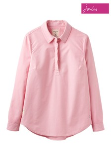 Joules Pink Clovelly Pull Over Shirt