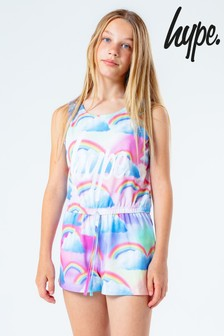 Hype. Kids Multi Repeat Rainbow Print Playsuit