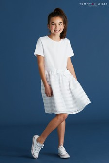 Tommy Hilfiger Organza Stripe Dress