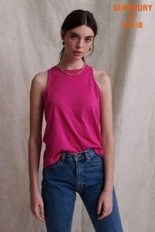 Superdry Pink Crochet Vest