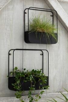 Set of 2 Metal Wall Planters