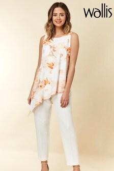 Wallis Petite White Confetti Floral Jumpsuit