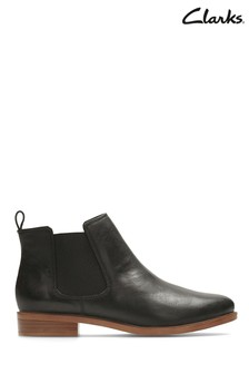 Clarks Black Leather Taylor Shine Boots