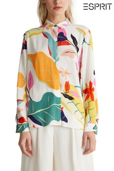 Esprit Natural Long Sleeve Printed Blouse