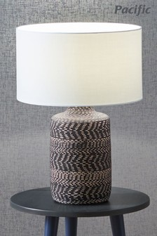 Atouk Textured Stoneware Table Lamp by Pacific
