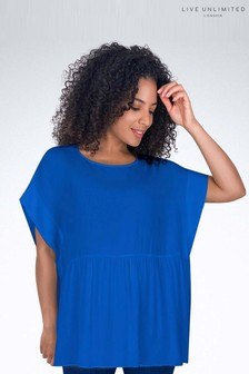 Live Unlimited Yves Blue Smock Top