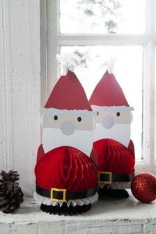 Set of 2 Paper Santas