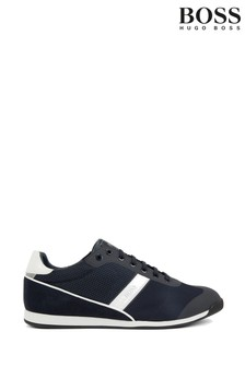 BOSS Blue Glaze Lowp Lace-Up Trainers