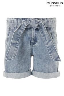 Monsoon Blue Belted Denim Shorts