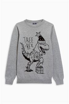 Christmas Tree-Rex Jumper (3-16yrs)