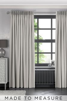 Pero Silver Grey Made To Measure Curtains