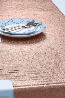 7 Piece Scribble Table Mats And Runner Set