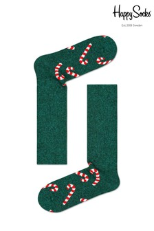 Happy Socks Men's Wool Candy Cane Socks