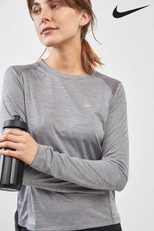 Nike Grey Long Sleeve Miler Top