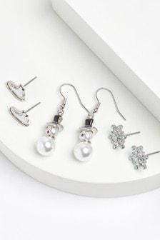 Christmas Winter Wonderland Earrings 3 Pack