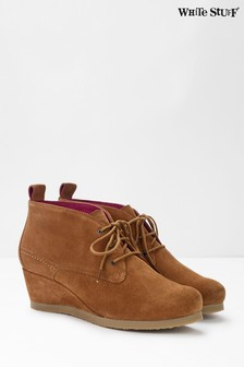 White Stuff Issy Lace-Up Wedge Ankle Boots