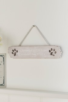 Home Paw Prints Hanging Sign