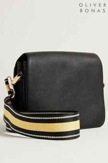 Oliver Bonas Black Jessie Rectangular Crossbody Bag