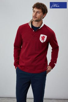 Joules Red Triumph Embellished Rugby Shirt