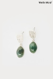 White Stuff Green Serena Semi Precious Earrings