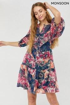 Monsoon Blue Arjana Print Dress
