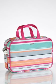 Folding Stripe Cosmetic Bag