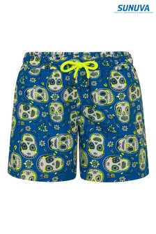 Sunuva Blue Mexican Skulls Swim Shorts