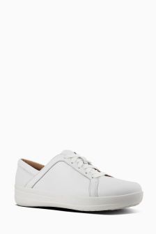 FitFlop Urban White Leather FSporty II LaceUp Sneaker