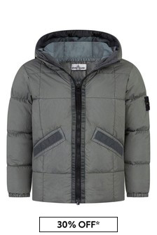 Boys Grey Padded Jacket