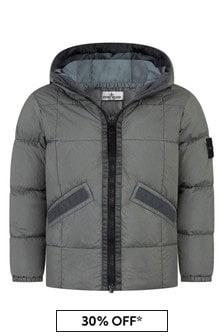Stone Island Junior Boys Grey Padded Jacket