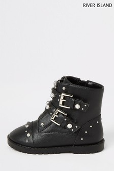 River Island Embellished Biker Boot