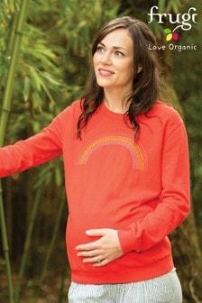 Frugi GOTS Organic Koi Red/Rainbow Maternity Sweatshirt